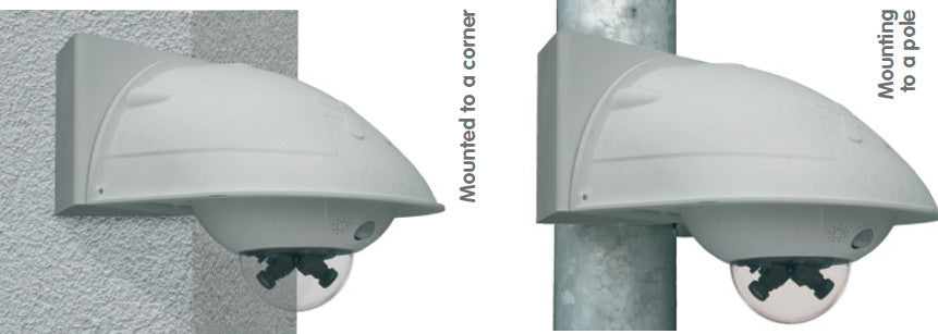 Wall Mount Set DualDome Cameras (For IP65) (Horizontale Bevestiging)