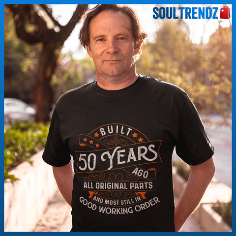 50 Years Old Vintage Birthday Shirt