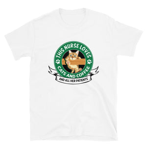 This Nurse Loves Cats and Coffee T-Shirt