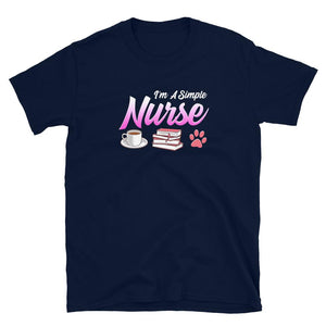 I'm A Simple Nurse That Loves Coffee, Reading and Cats T-Shirt - SoulTrendz