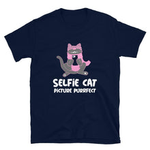 Load image into Gallery viewer, Selfie Cat Picture Purrfect Funny Cat T-Shirt - SoulTrendz