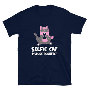 Selfie Cat Picture Purrfect Funny Cat T-Shirt - SoulTrendz