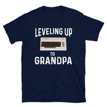 Load image into Gallery viewer, Leveling Up To Grandpa Vintage Gamer T-Shirt - SoulTrendz