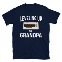 Load image into Gallery viewer, Leveling Up To Grandpa Vintage Gamer T-Shirt