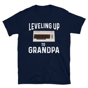 Leveling Up To Grandpa Vintage Gamer T-Shirt