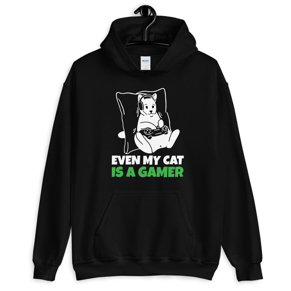 Even My Cat Is A Gamer Unisex Hoodie