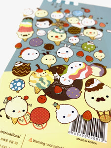 010021 Ice Cream Paper Sticker-1 sheet