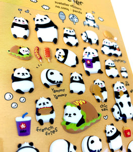 010041 Panda Puffy Sticker-1 sheet