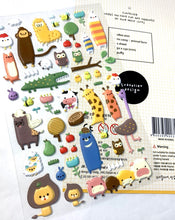 Load image into Gallery viewer, 010091 Animal Farm Puffy Sticker-1 sheet