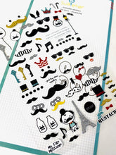 Load image into Gallery viewer, 010111 MUSTACHE Glitter Sticker-1 sheet