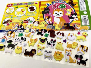 011361 DOG PUFFY STICKER-1 sheet