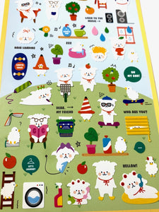 020061 Fluffy House Paper Sticker-1 sheet