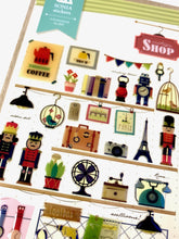 Load image into Gallery viewer, 020071 Vintage Shop Epoxy Sticker-1 sheet