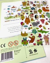 Load image into Gallery viewer, 020081 Animal Friends Epoxy Sticker-1 sheet