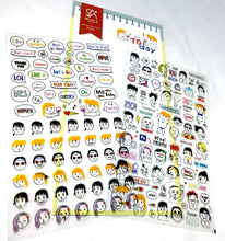 Load image into Gallery viewer, 020111 TODAY-2 Sheets PVC Sticker-1 sheet