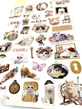 Load image into Gallery viewer, 020241 LOVELY CAT Nylon Sticker-1 sheet