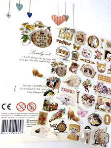 020241 LOVELY CAT Nylon Sticker-1 sheet