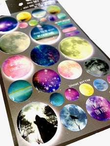 020281 MY SPACE Gel Epoxy Sticker-1 sheet