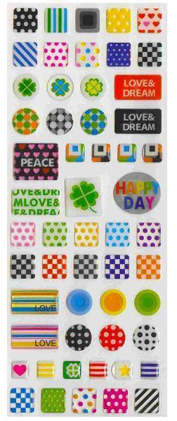 087351 DESIGNS GEL STICKER-1 sheet