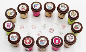 100731 LITTLE JAVA WOODEN STAMPS-8 assorted stamps