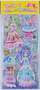 101161 DRESS-UP PUFFY STICKERS-8 assorted sheets