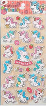 Load image into Gallery viewer, 101171 UNICORN PUFFY STICKER-4 assorted sheets