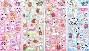 101291 CUTE PET PUFFY STICKERS-4 assorted sheets