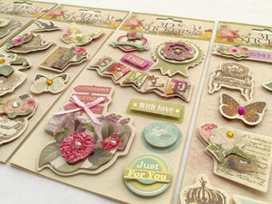 101431 3D CRAFT STICKERS-ASSORTED-12 sheets