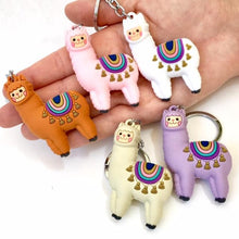 Load image into Gallery viewer, 120144 Llama Keychain-White-1 piece