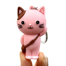 Load image into Gallery viewer, 120264 SCHOOL CAT CHARM with keyring-Pink-1 piece