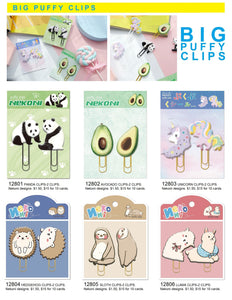 128051 SLOTH PUFFY CLIPS-2 CLIPS-1 card
