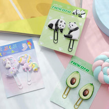 Load image into Gallery viewer, 128021 AVOCADO PUFFY CLIPS-2 CLIPS-1 card