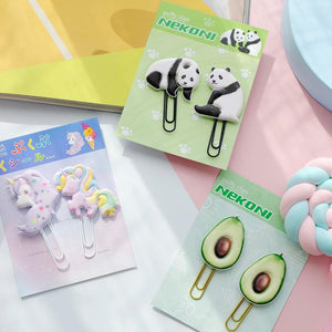 128021 AVOCADO PUFFY CLIPS-2 CLIPS-1 card