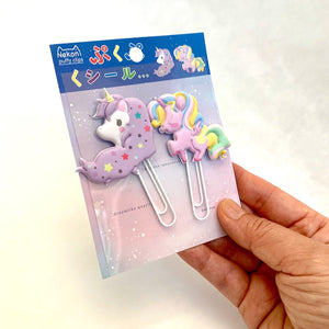 128031 UNICORN PUFFY CLIPS-2 CLIPS-1 card