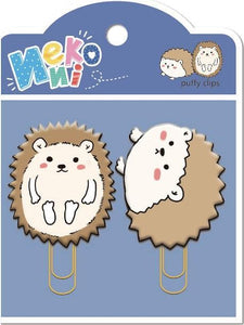 128041 HEDGEHOG PUFFY CLIPS-2 CLIPS-10