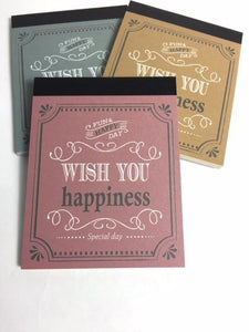133202 Kyowa 3 notepads-HAPPY-3 assorted note pads