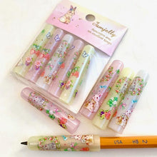 Load image into Gallery viewer, 144991 Qlia Jamjelly Rabbit Pencil Caps-1 pack of 5 caps