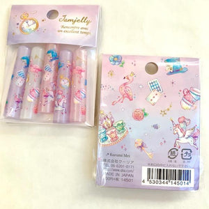 145011 Qlia Jamjelly Unicorn Pencil Caps-1 pack of 5 caps