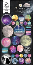 Load image into Gallery viewer, 020281 MY SPACE Gel Epoxy Sticker-1 sheet