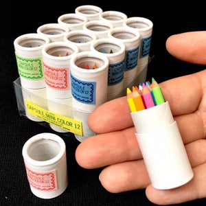 216021 12 sets of 12 mini pencils in mini paper tube-1 tube of 12 pencils