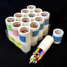 Load image into Gallery viewer, 216021 12 sets of 12 mini pencils in mini paper tube-1 tube of 12 pencils