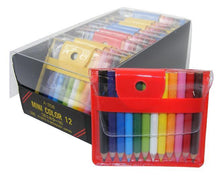 "Load image into Gallery viewer, 216121 12 MINI 1.75"" PENCILS IN POUCH-1 pouch"