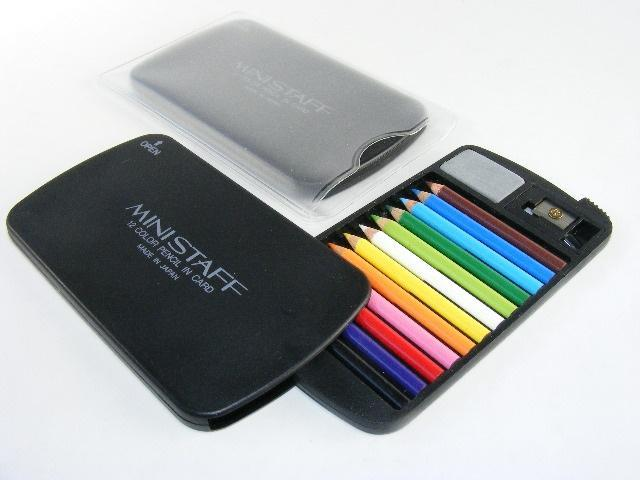 22132 12 mini pencils in plastic case set-Black-1