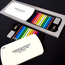 Load image into Gallery viewer, 22137 MINI PENCILS IN PLASTIC CASE IN RETAIL PACKAGE-White-1