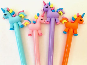 222492 UNICORN GEL PEN-4 assorted pens