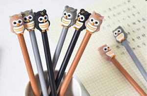 222652 OWL GEL PEN-3 assorted pens