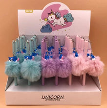 Load image into Gallery viewer, 222802 UNICORN FLUFFY GEL PEN-4 assorted pens