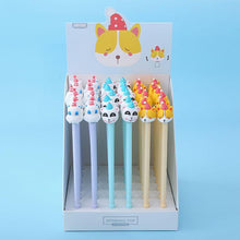 Load image into Gallery viewer, 223362 SPINNING PARTY ANIMALS GEL PEN-3 assorted pens