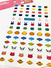 Load image into Gallery viewer, 241771 LITTLE ANIMAL FACES GEL STICKERS-1 sheet