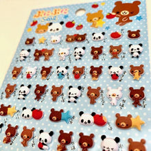 Load image into Gallery viewer, 241921 MINI SEAL PUFFY STICKER-BEAR-1 sheet